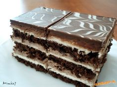 CESTO 3x: 3 vajíčka, 3PL cukru, 1 vanilka, 1PL pol.múky, 2PL kakaa, 2 KL olej, 1KL prdopeč- biel... Hungarian Desserts, Hungarian Recipes, Cake Bars, Czech Recipes, Ethnic Recipes, Chocolate, Nutella, Sweet Recipes, Tiramisu