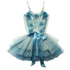 Estella Tutu Duck Egg ❤ liked on Polyvore featuring dresses, ballet, dance, embellished dress, blue cotton dress, blue embellished dress, slimming dresses and ballet dress
