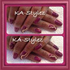 Joy Brown harmony Gelish application on her natural nails
