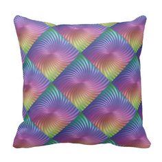 Colourful Rainbow Swirl Pillow