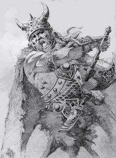 viking drawing | El Viking by ~elshazam on deviantART