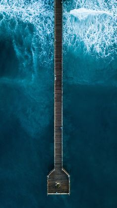 Ocean Pier Top View Photography Art Print by Standard Prints - X-Small Aerial Photography, Landscape Photography, Nature Photography, Scenic Photography, Night Photography, Landscape Photos, Abstract Landscape, Birds Eye View, Nature Wallpaper