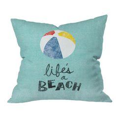 Nick Nelson Lifes A Beach Throw Pillow