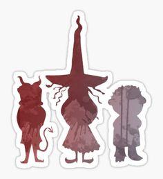 Mischievous Children Inspired Silhouette Sticker