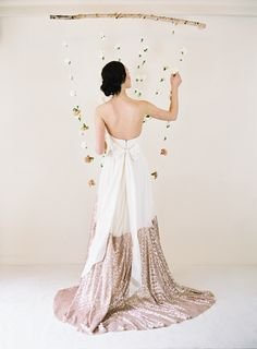 Truvelle wedding dress with sequin detailing | Blush Wedding Photography | see more on: http://burnettsboards.com/2014/10/unveiled-today-truvelles-2015-collection/