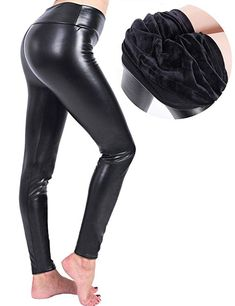 11636ebf392b6 Women Faux Leather Lined Winter Warm Leggings Leather Thick Pant ***  Continue to the product at the image link. Women's Fashion Shop + Shop From  Amazon