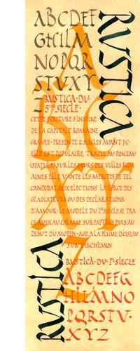 calligraphie rustica