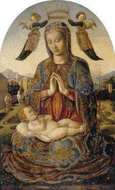 Bartolomeo Vivarini, Madonna col Bambino, 1480.