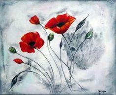 Peinture de MARTINE GREGOIRE: COQUELICOTS ROUGES                                                                                                                                                                                 Plus