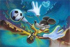 Disney Fine Art - Kickin It. Soccer Mickey. Biggs Ltd. Gallery. Heirloom quality bridal, art, baby gifts and home decor. 1-800-362-0677. $495.