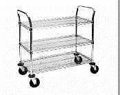 Shelves 134649: Metro Mw Series Chrome Plated Wire Utility Cart, 3 Shelves, 375 Lbs Capacity, 36 -> BUY IT NOW ONLY: $327.61 on eBay!