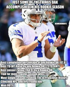 Yes, round of applause please! Dak's what I'm talking about !