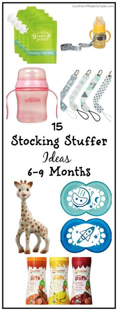 15 Stocking Stuffer Ideas for babies ages 6-9 months