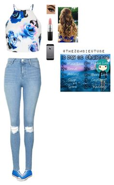 """Day 8: bae's look"" by wildcalifornia2016 ❤ liked on Polyvore featuring Converse, New Look, Topshop and MAC Cosmetics"