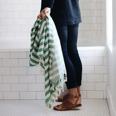 Another sneak peak of our newest #maewoven Turkish towel style for you late-nighters! Can't get over this perfect green!