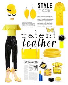 """City Slickers: Patent Leather Featuring Yellow 🌕"" by yemmy-made ❤ liked on Polyvore featuring Proenza Schouler, Miss Selfridge, Casadei, Christian Dior, Mademoiselle Slassi, ZENZii, Kim Rogers, Victoria Beckham, Rocio and Versace"