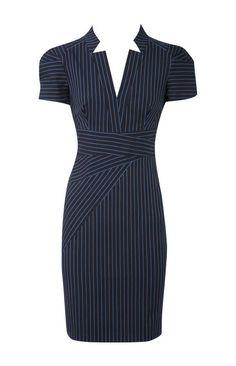 Karen Millen tailored pinstripe dress in blue. I imagine this is what Esmé Squalor wore in The Ersatz Elevator.