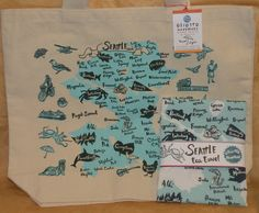 #Oliotto #Seattle #Combo #Pack (#blue) #local #locavore #MadeinUSA #seattle #tourist #souvenir #tote #tea #towel #trip #vacation #visit