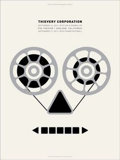 Thievery Corporation concert poster by Dirk Fowler