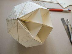 Le Paper Globe – a DIY paper terrestrial globe   Step 7