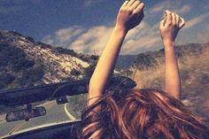 music blasting in the car with speed wind and open road = ultimate happiness for me