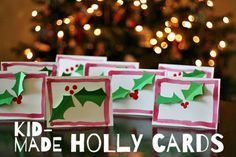 7 Christmas Crafts for Kids to Make: Holly Jolly Christmas Cards