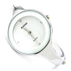 KIMIO Charm Bling Elegant Women Lady White Dial Bangle Bracelet Quartz Wrist Watch KIM019 >>> Find out more about the great product at the image link.(It is Amazon affiliate link) #instagood