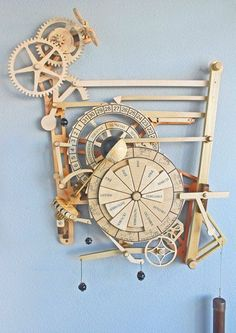 Wooden Gear Clock Plans from Hawaii by Clayton Boyer:
