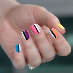 Simple Striped Designs for Short Nails. If you are looking for fresh and stylish summer nail designs you have come to the right place! We have a whole lot of exciting ideas to suit all tastes! #nailart #summernails #naildesigns