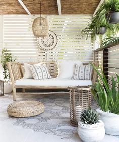 been having the most perfect days here on the Sunshine Coast. Perfect outdoor weather and this space is just?to relax, unwind and… Outdoor Rooms, Outdoor Living, Outdoor Decor, House And Home Magazine, Patio Design, Garden Design, Backyard Patio, Room Decor, Interior Design