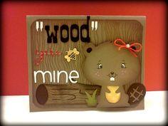 Valentine Cards   Create a Critter - Beaver   CRICUT Create a critter   Pinterest