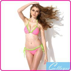 Colloyes 2015 New Sexy Bikini Set Swimwear Pink + Green Lace Triangle Top with Classic Cut Bottom Women Swimsuit - http://www.aliexpress.com/item/Colloyes-2015-New-Sexy-Bikini-Set-Swimwear-Pink-Green-Lace-Triangle-Top-with-Classic-Cut-Bottom-Women-Swimsuit/32239528221.html