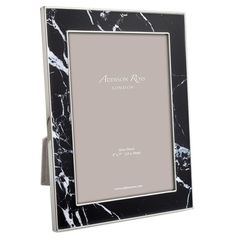Addison Ross Marble 5R photo frame (£250) ❤ liked on Polyvore featuring home, home decor, frames, black picture frames, black home decor, marble picture frames, black frames and marble home decor