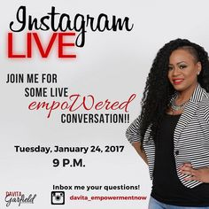 What are you doing to embrace your journey to become amazing on purpose and accomplish the goals you desire and deserve?  Let's talk about it! Join me live at 9 P.M. for conversation tools for success and a candid Q&A session!  Inbox me your questions!You Are Amazing on Purpose
