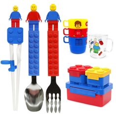 Lunch Box Bento Container Cup Chopsticks Fork Spoon Toothbrush for Children Kids #Oxford