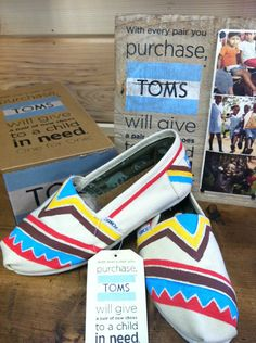 Aztec Customized TOMS by fawcettme on Etsy, $90.00