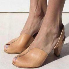 Women's Sandals Pumps Peep Toe Chunky Heel PU Others Pumps, veryvoga Oxford Shoes Heels, Women Oxford Shoes, Women's Shoes, Women's Flats, Flat Shoes, Shoes Women, Sell Shoes, Dress Shoes, Peep Toe Shoes