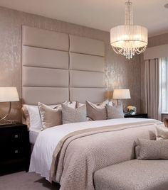 Beige and tan bedroom.