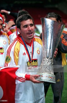 in Galatasaray won the UEFA Cup final after beating Arsenal on penalties God Of Football, Football Icon, Football Pictures, Football Cards, Football Soccer, Football Players, Football Stickers, Fight Club, Stock Pictures