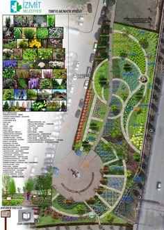 Yenişehir Mahallemizde 2 bin metrekarelik alanda devam eden Tıbbi ve Aromatik . Landscape Architecture Drawing, Landscape Design Plans, Landscape Concept, Landscape Drawings, Urban Landscape, Rhino Architecture, Abstract Landscape, Parque Linear, Masterplan