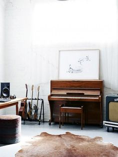 chic music room with various musical instruments / sfgirlbybay