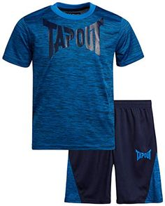 Shop TapouT Boys' Active Shorts Set - Short Sleeve T-Shirt and Gym Shorts Performance Kids Clothing Set (2 Piece). Explore our Boys Fashion section featuring new #shopping ideas of the best collection of #BoysFashion #BoysClothing and #fashion products online at #Jodyshop Marketplace. Bermuda Shorts Outfit, Gym Shorts, Running Shorts, Athletic Shorts, Short Outfits, Kids Outfits, Athletic Looks, Boys Accessories, Online Fashion Stores