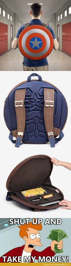Captain America Bag. I want this!