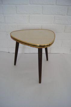 Mid Century  Coffe Table  Germany 1950s  Tripod  Plant by MyDejaVu