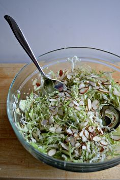 Almond Sesame Coleslaw by sarcasticcooking #Salad #Coleslaw #Almond #Healthy #Light