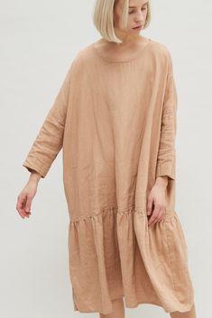 Linen dress and Linen clothes Boho Dress, I Dress, Trendy Fashion, Womens Fashion, Linen Dresses, Textiles, Blouse Styles, Lounge Wear, Clothes For Women
