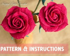 Crochet Calla Lily Pattern and Instructions by HappyPattyCrochet
