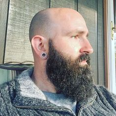 nice 20+ Reasons to Be Bald With Beard - Find Your Cool Look Check more at http://machohairstyles.com/reasons-to-be-bald-with-beard/