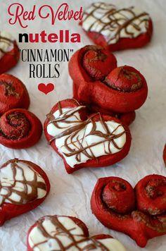 Red Velvet Nutella Cinnamon Rolls