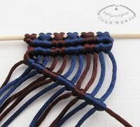tutorial  for beginners with all basic knots and ...adding beads, shading different threads etc węzeł rypsowy - makrama - 1